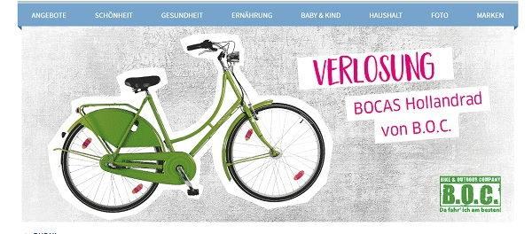 BUDNI Gewinnspiel Bocas Hollandrad - Fahrrad gewinnen