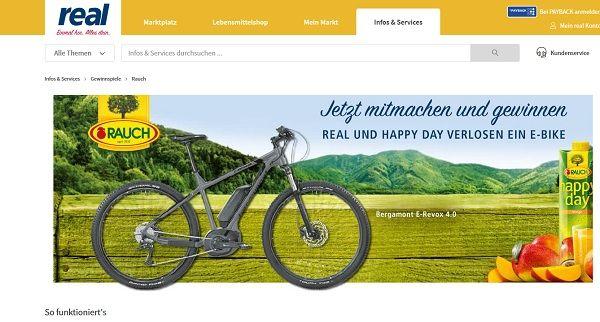 Real De Fahrrad Gewinnspiel