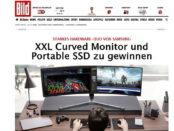 Bild.de Gewinnspiel Samsung XXL Curved Monitor