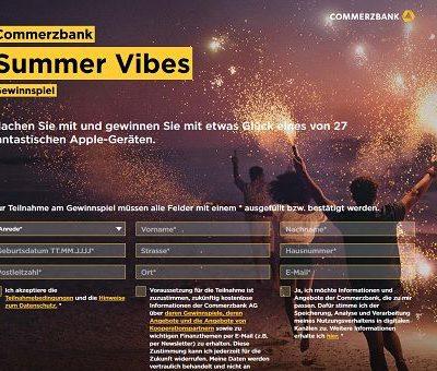 Commerzbank Sommer Gewinnspiel Apple Geräte gewinnen