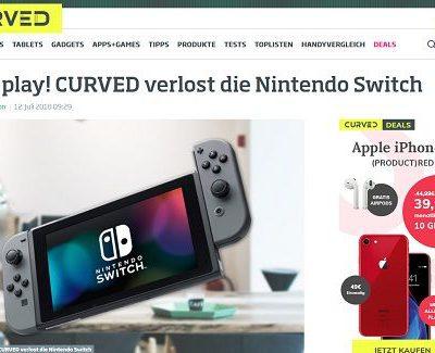 Curved Magazin Gewinnspiel kostenlos Nintendo Switch Spielkonsole