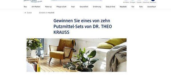 DM Gewinnspiele DR. Theo Kraus Putzmittel-Sets