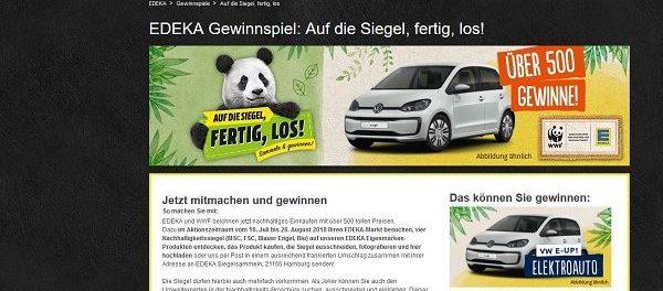 9483e3e99ced28 Edeka Auto Gewinnspiel VW E-UP Elektroauto