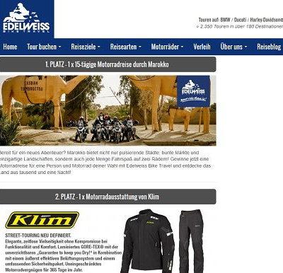 Edelweiss Biketravel Gewinnspiel Marokko Motorradreise