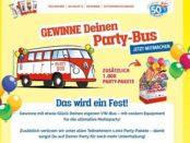 VW Bullli Gewinnspiel Ferrero Party-Bus