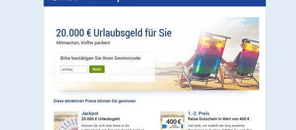 GMX Gewinnspiel 20.000 Euro Urlaubsgeld und Gutscheine