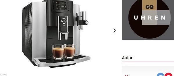 GQ Magazin Gewinnspiel Jura Kaffeevollautomat
