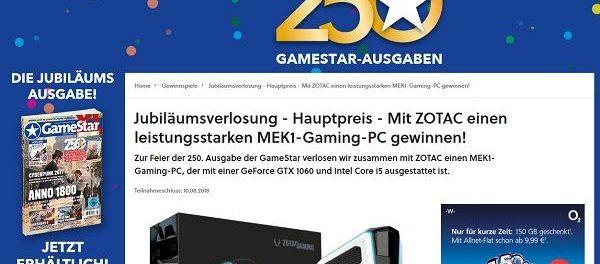 Gamestar Magazin Gewinnspiel MEK1 Gaming PC gewinnen