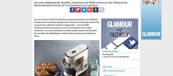 Glamour Gewinnspiel 3 WMF Küchenmaschinen