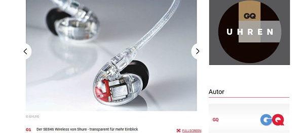 Glamour Gewinnspiel Shure SE846 Wireless Kopfhörer Wert 1.000 Euro