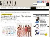 Grazia Magazin Gewinnspiel Dove Beauty Paket und 500 Euro Reisegutschein