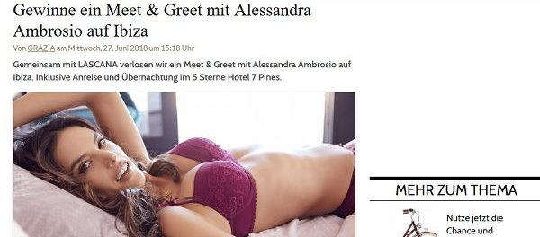 Grazia Magazin Gewinnspiel Meet&Greet Alessandra Ambrosio auf Ibiza