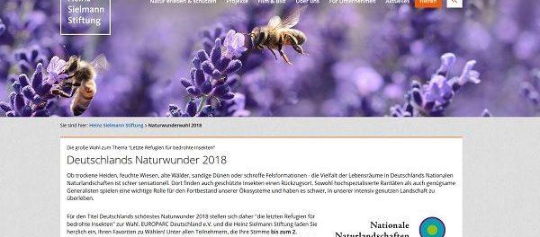 Heinz Sielmann Stiftung Gewinnspiel Deutschlands Naturwunder 2018