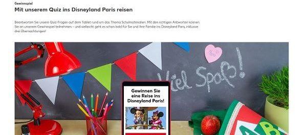 Kaufland Gewinnspiel Disneyland Paris Reise gewinnen