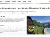Kaufland Gewinnspiel Kinostart Gans im Glück Österreich Urlaub