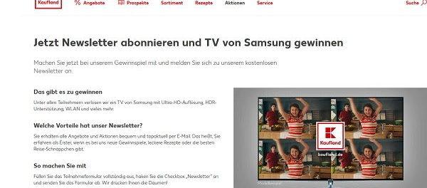 Kaufland Gewinnspiel Samsung Ultra-HD Fernseher