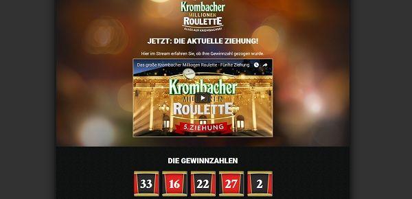 Krombacher Millionen Roulette Code Eingeben