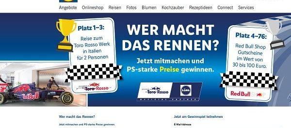LIDL und Red Bull Gewinnspiel 3 Italien Reisen Toro Rosso Werk
