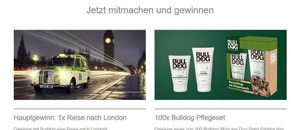 London Reise Gewinnspiel Bulldog Männer Hautpflege