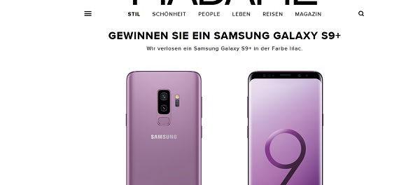 Madame Gewinnspiel Samsung Galaxy S9+ Smartphone