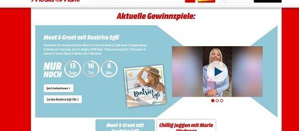 Media Markt Schlagerwochen Gewinnspiel Meet&Greet Beatrice Egli