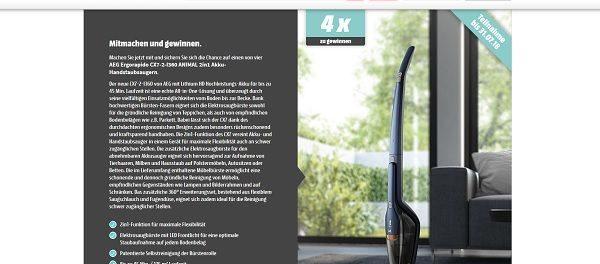 Media Markt Staubsauger Gewinnspiel AEG 2in1 Akku-Handstaubsauger