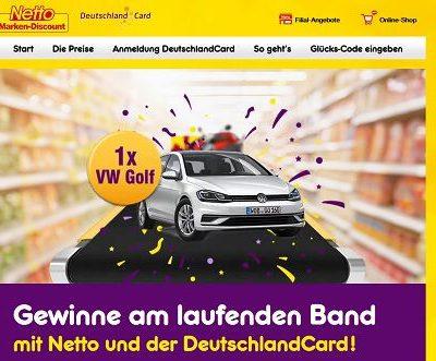 Netto und Deutschland Card Auto Gewinnspiel Rubbellose 2018