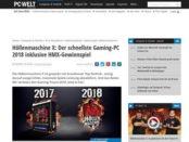 PC Welt Höllenmaschine Gewinnspiel schnellster Gamer PC gewinnen