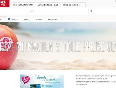 REWE Gewinnspiel Pink Lady verlost Reisen und Strandtücher