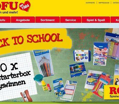 ROFU Schulstarter Gewinnspiel 100 Starterboxen