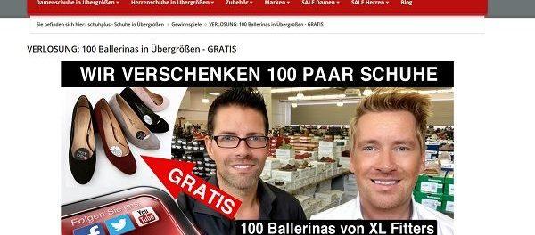 Schuhplus Gewinnspiel 100 Ballerinas gewinnen