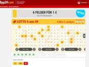 Tipp24 Aktion 6 Lottokästchen 1 Euro