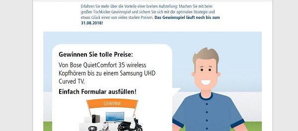 Union Investment Gewinnspiel Bose Wireless Kopfhörer oder Samsung TV
