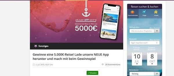 Urlaubspiraten Gewinnspiel 5.000 Euro Reisegutschein