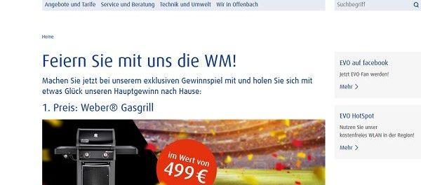 WM Gewinnspiel EVO AG Weber Gasgrill und Bose Soundsystem