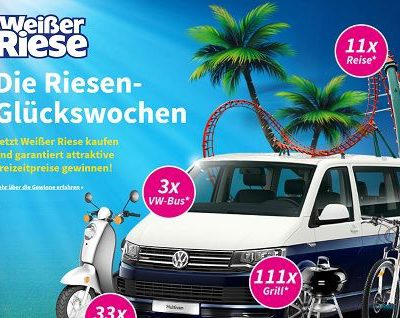 Weisser Riese Glückswochen Gewinnspiel 3 mal VW Bus