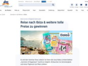 dm Gewinnspiel Ibiza Reise gewinnen 2018