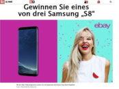 ebay und Bild.de Gewinnspiel 3 Samsung S8 Smartphone