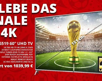 mySwooop WM Gewinnspiel LG 60 Zoll UHD Fernseher