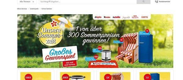 real und Ferrero Gewinnspiel 300 Sommerpreise gewinnen