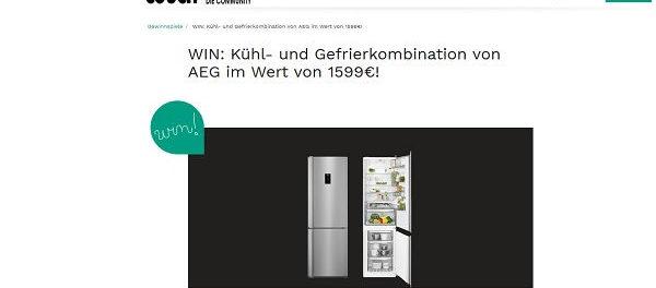 AEG Kühl- und Gefrierkombination Gewinnspiel Couchstyle.de