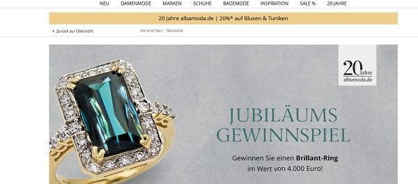 Alba Moda Brillant Ring Gewinnspiel 20 Jahre Jubiläum