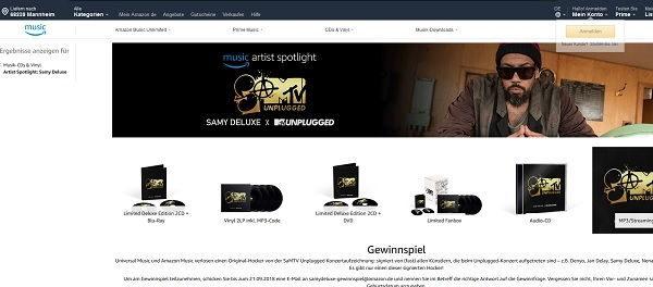 Amazon Gewinnspiel SaMTV Unplugged Hocker