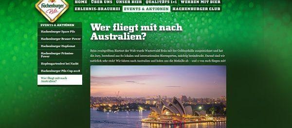 Australien Reise Gewinnspiel Hachenburger Pils 2018