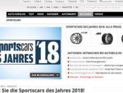 Auto Bild Gewinnspiel Leserwahl Sportscars 2018