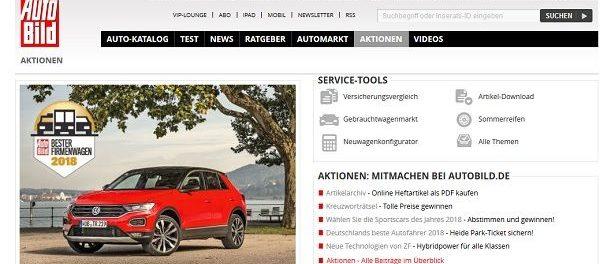 Auto Bild Gewinnspiel VW T-ROC Firmenwagenwahl 2018