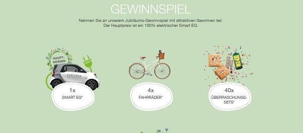 Auto-Gewinnspiel Logona Smart EQ und Fahrräder