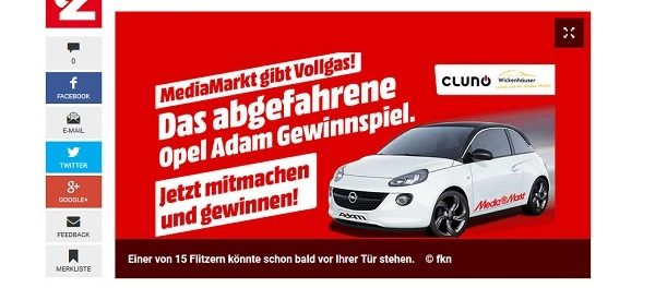 Auto Gewinnspiel Media Markt Opel Adam gewinnen
