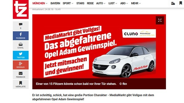 auto gewinnspiel media markt opel adam gewinnen. Black Bedroom Furniture Sets. Home Design Ideas
