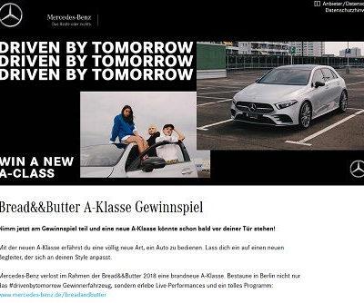 Auto Gewinnspiel Mercedes verlost Benz A-Klasse